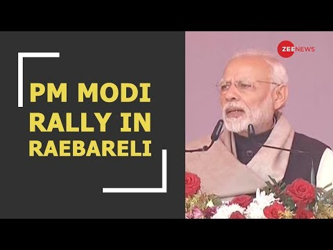 PM addresses rally in Raebareli: Takes on Congress and UPA government