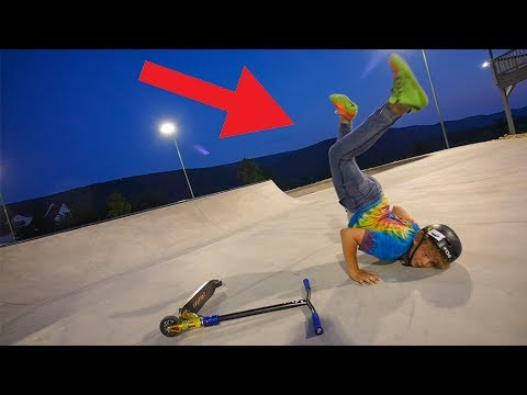 SCOOTER KID DIES AT SKATEPARK! *BELLY FLOP*