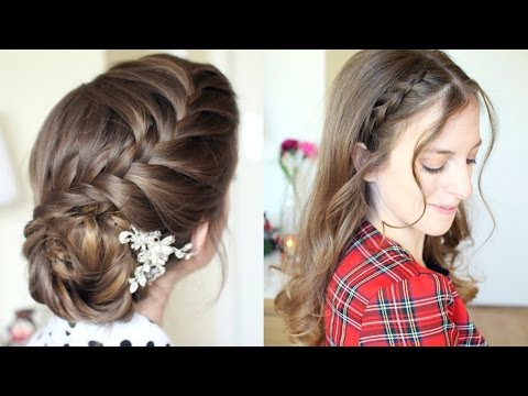 2 Pretty Braided Hairstyle Ideas | Formal Hairstyles | Braidsandstyles12