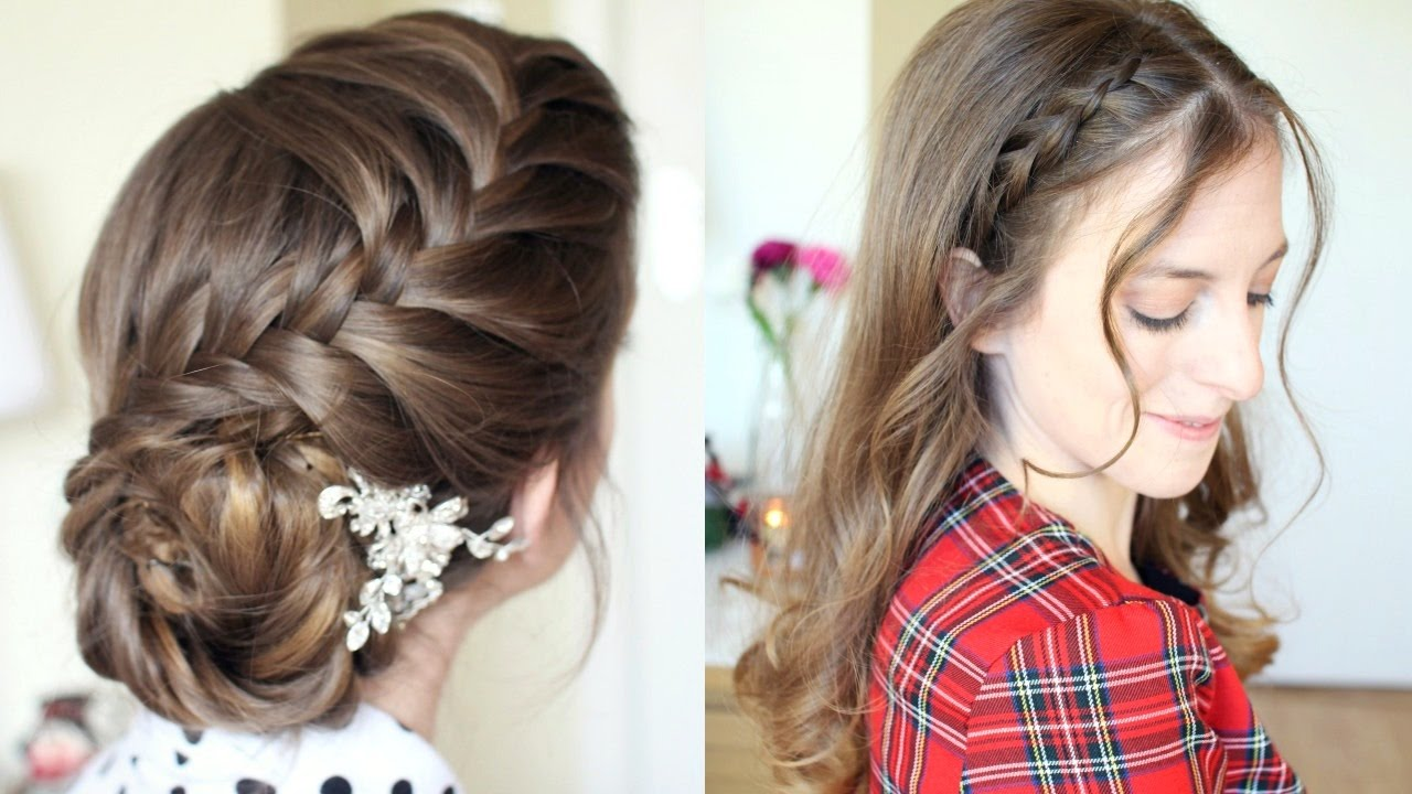 2 pretty braided hairstyle ideas | formal hairstyles
