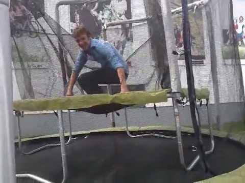 double trampoline at decathlon youtube. Black Bedroom Furniture Sets. Home Design Ideas