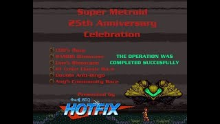 Super Metroid 25th Anniversary Celebration 100% Race