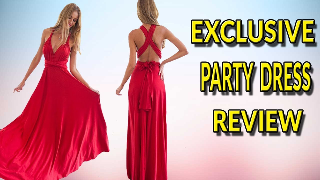 ba150e34bf93 2018 Best Selling Convertible Long Party Dress Review in AliExpress   Ali  Addict