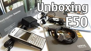 Nokia E50-1 Unboxing 4K with all original accessories RM-170 Eseries review