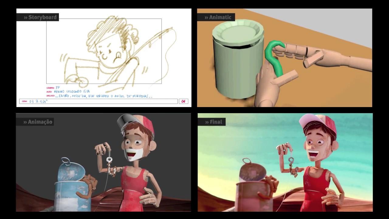Passo a Passo de Animação 3D   História do Peixe Gigante
