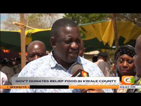 Government donates relief food in Kwale County