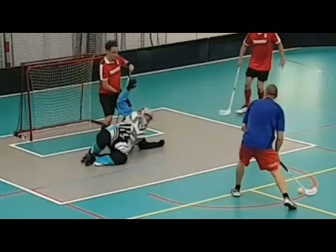 Download Floorball Goalkeeper, Goalie best saves, 1st match highlights 2020/2021