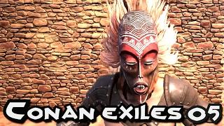 CONAN EXILES GAMEPLAY - YOGGITE UPGRADES MASK & SPEAR !!! E05 (CONAN SERVER GAMEPLAY)
