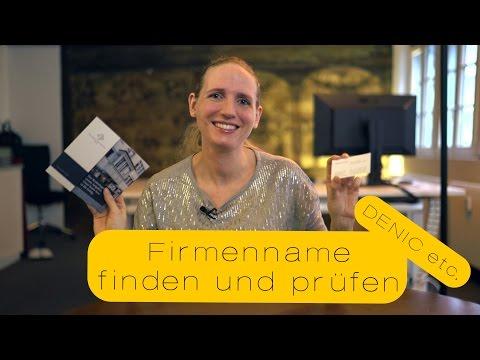 Firmenname Finden Und Prüfen!