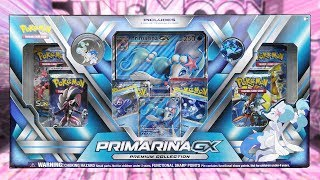 Opening a Primarina GX Premium Collection Box of Pokemon Cards!
