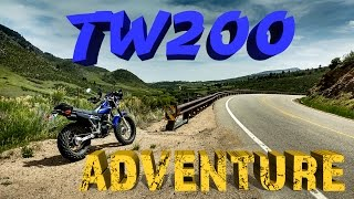 TW200 Adventure - missed a group ride, cows, hill climb