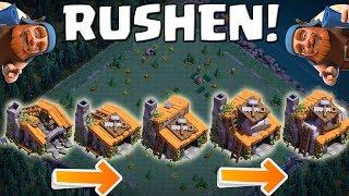 MEISTERHÜTTE - WIR MÜSSEN RUSHEN! || CLASH OF CLANS || Let