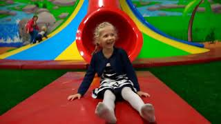 In The New Children's Amusement And Adventure Park For The Whole Family Trampolines And Bright Colo