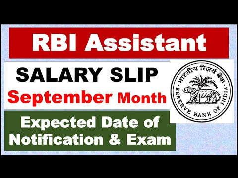 #RBI Assistant #Salary SLIP September 2019ll #RBI Assistant Update Notification/Prelim Exam?