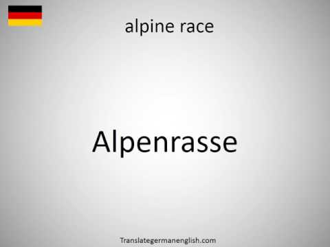 How to say alpine race in German?