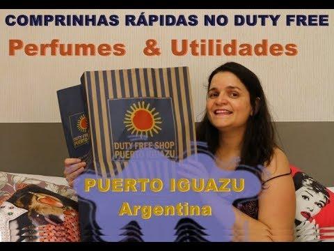 Comprinhas Vapt-Vupt no Duty Free da Argentina - perfumes e utilidades domésticas