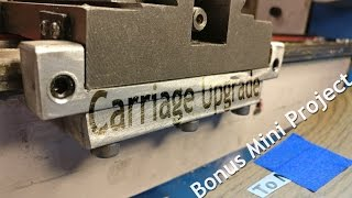 Mini Lathe Carriage Saddle Clamp Upgrade - with ball bearings + bonus vinyl cutting project