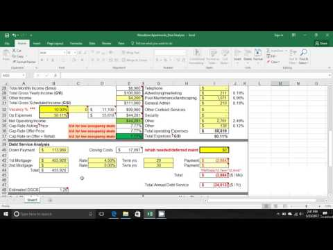 Military Investor - Apartment Complex Analysis
