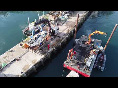Sunken Yacht Salvage (Diving and drone footage)