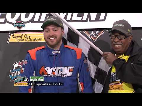 Knoxville Raceway 410 Highlights June 17, 21017