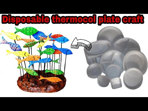 Diy craft | Waste thermocol plate craft | How to make school project with thermocol plate