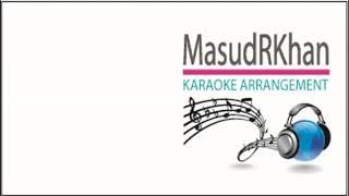 Aji Jhoro Jhoro Mukhoro Badoro Diney | Karaoke | Ravindra Sangeet