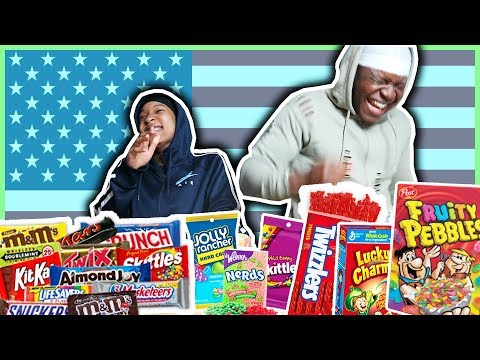 British People Try American Candy & Snacks [ft Midnight Man]