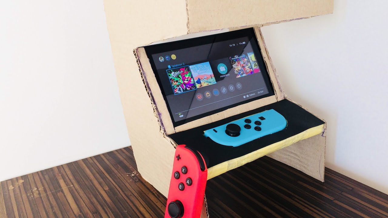 Mini Arcade Machine For Nintendo Switch From Cardboard V1