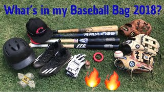 What's in my Baseball Bag Summer 2018?