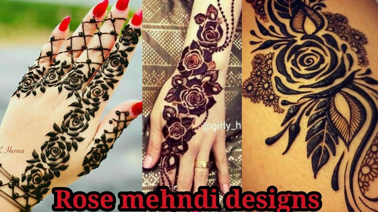 Simple And Easy Rose Mehndi Designs Best Unique Rose Mehndi