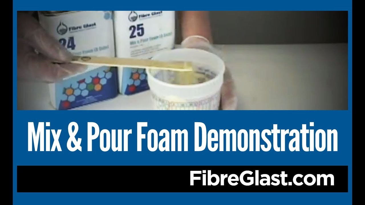 Mix And Pour Foam Demonstration Youtube