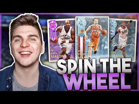 SPIN THE WHEEL OF PLAYERS WITH NO RINGS! NBA 2K18 SQUAD BUILDER