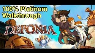 Deponia 100% Platinum Walkthrough - Part 3/3 PS4