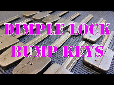 Взлом бампингом --    Dimple Lock Bump Keys