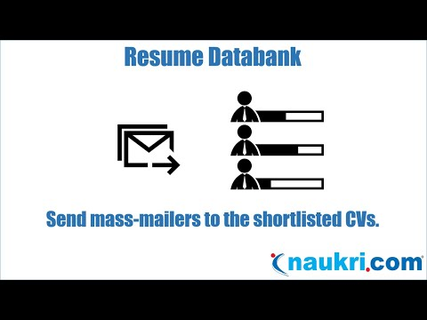 How to send mass mail in naukri - Naukri's database