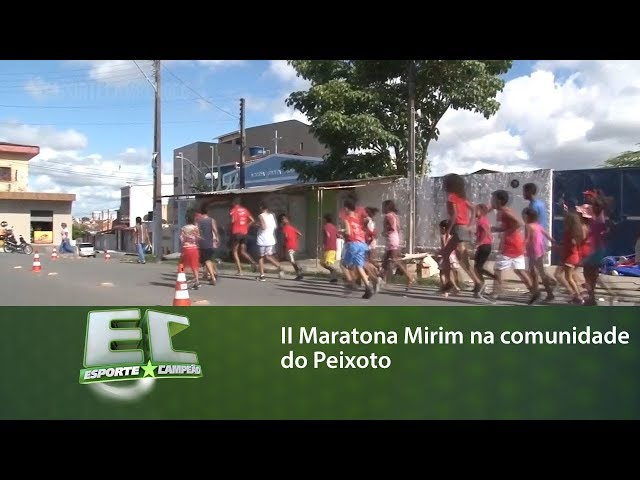 II Maratona Mirim na comunidade do Peixoto