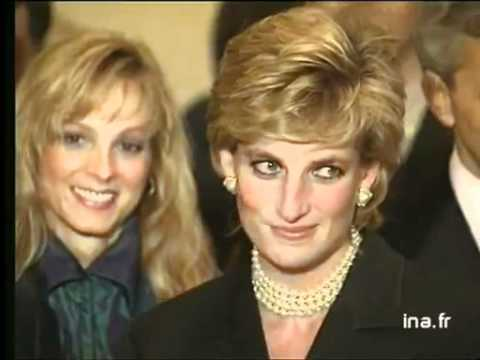 Princess Diana in France for Cezanne exhibition