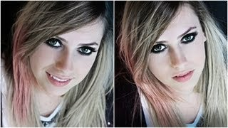"Make Transformação ""Avril Lavigne"" com Amanda Domenico."