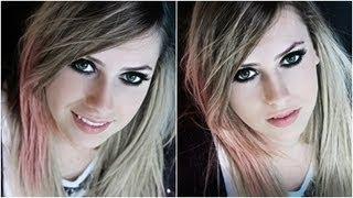 """Make Transformação """"Avril Lavigne"""" com Amanda Domenico."""