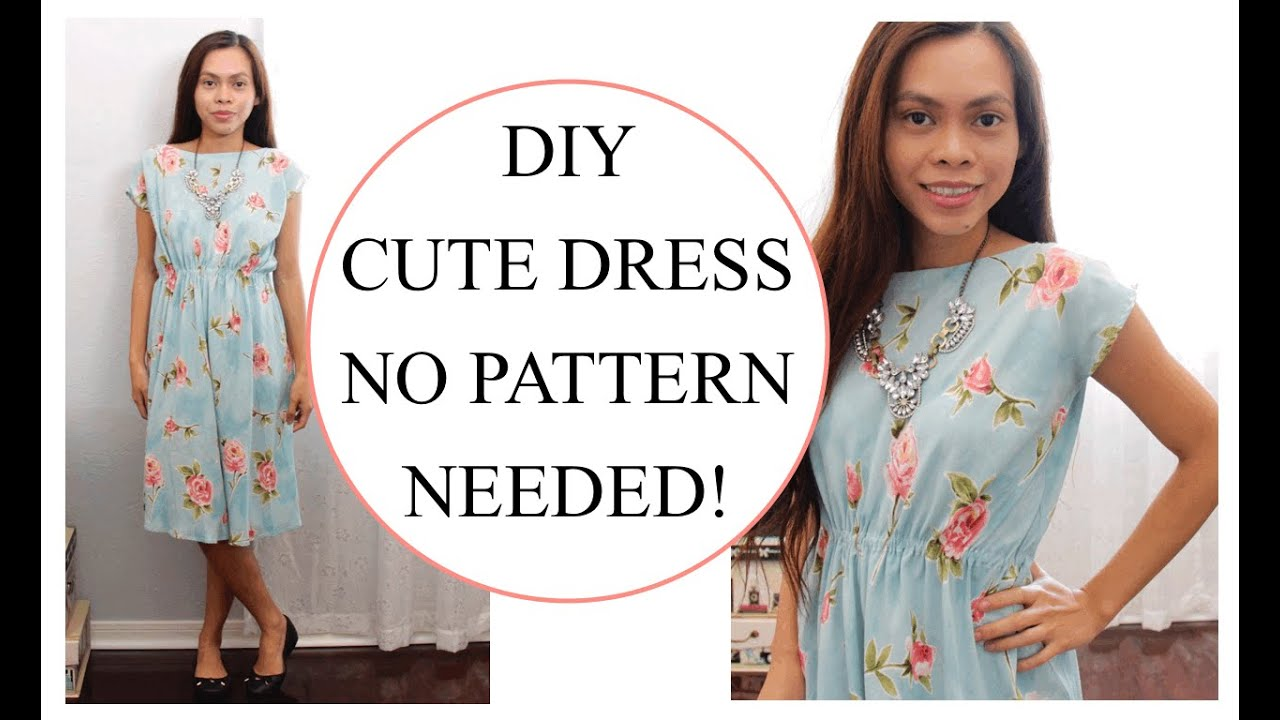 4a0f5d084c01 How to sew Dress without Pattern, Sewing project for Beginners - YouTube