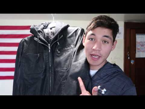 Kenneth Cole Reaction Leather Moto Jacket