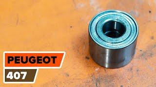 Comment et quand changer Jeu de roulements de roue arrière et avant PEUGEOT 407 (6D_) : vidéo tutoriel