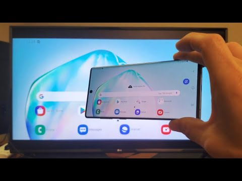 Galaxy Note 10: How To Screen Mirror Wireless Connect To LG Smart TV