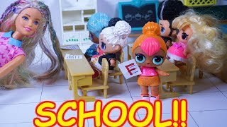 LOL SURPRISE DOLL Cutie Cheats On Her School Test!