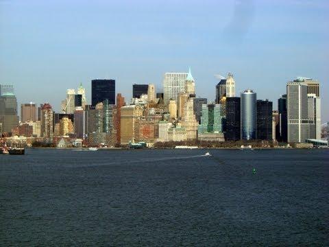 Manhattan landscape, New York City, New York State, United States, North America