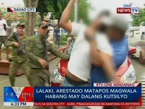Lalaki, arestado matapos magwala habang may dalang kutsilyo sa Davao City