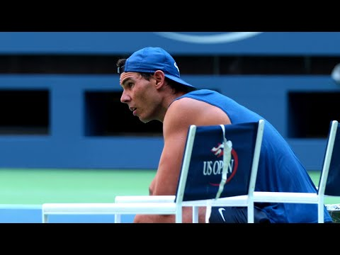 Nadal Practices With Some Special Guests