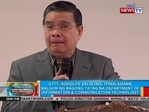 Atty. Rodolfo Sasalima, itinalagang kalihim ng Department of Information & Communication Technology
