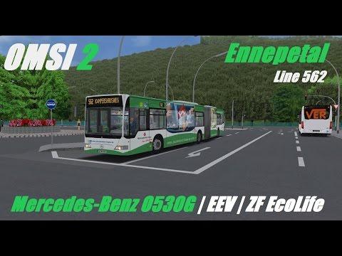 OMSI 2. Ennepetal, Line 562, Mercedes-Benz O530 G