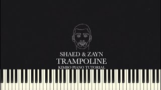 SHAED & ZAYN - Trampoline (Piano Tutorial + Sheets)